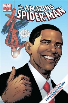 obama spiderman marvel comic's