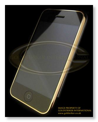 le golden Iphone (un Iphone en or massif!)