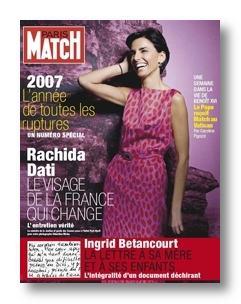 Rachida Dati se fait glamour pou Paris-match