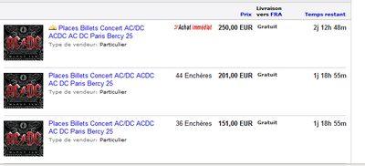 billets concerts tickets acdc 25 27 févriers paris bercy